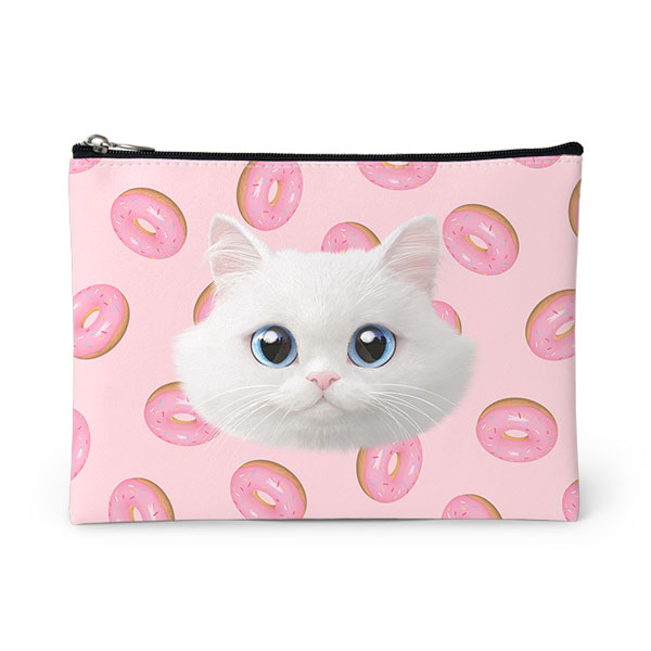 Soondooboo's Donuts Face Leather Pouch