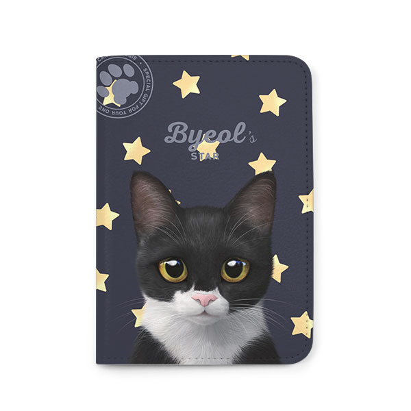 Byeol the Tuxedo Cat's Star Passport Case