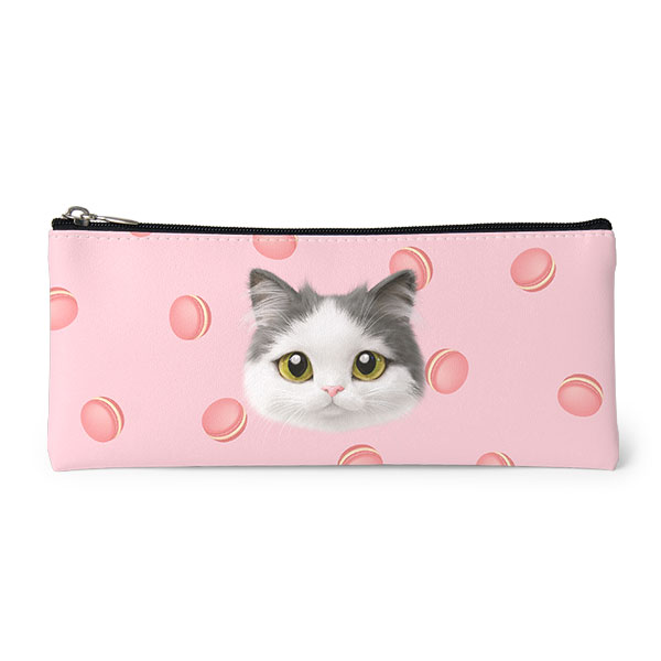 Dal's Macaroon Face Leather Pencilcase