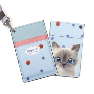 Momo's Blueberry & Strawberry Card Necklace Wallet