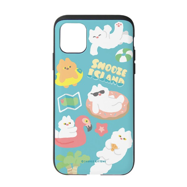[Snooze Kittens] Snooze Island Blue Slide Case
