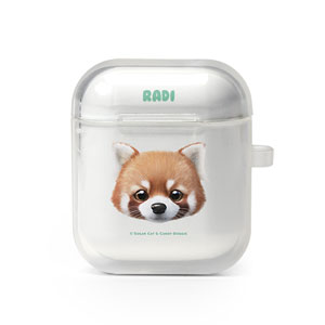 Radi the Lesser Panda Face AirPod Case