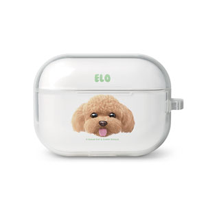 Elo the Poodle Face AirPod Pro TPU Case