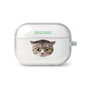 Ohsiong the Stray Cat Face AirPod Pro TPU Case