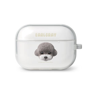 Earlgray the Poodle Face AirPod Pro TPU Case