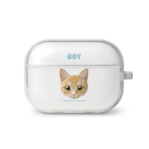 Roy the Cheese Tabby Face AirPod Pro TPU Case
