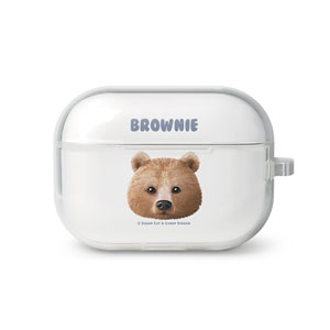 Brownie the Bear Face AirPod Pro TPU Case