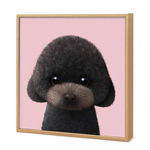 Choco the Black Poodle Artframe