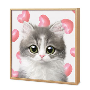 Dan the Kitten's Heart Balloon Artframe
