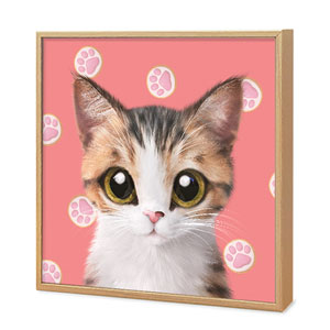 Ddakzi the Kitten's Footprint Cookies Artframe