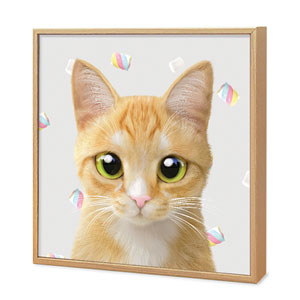 Roy the Cheese Tabby's Marshmallow Artframe