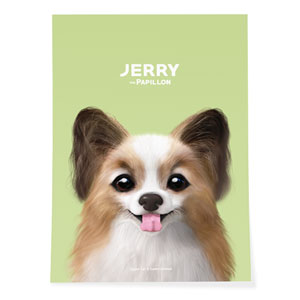 Jerry the Papillon Art Poster