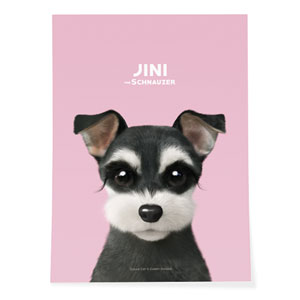 Jini the Schnauzer Art Poster