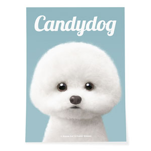 Dongle the Bichon Magazine Art Poster