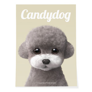 Earlgray the Poodle Magazine Art Poster