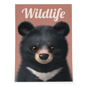 Bandal the Aisan Black Bear Magazine Art Poster