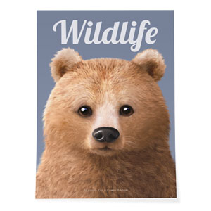 Brownie the Bear Magazine Art Poster