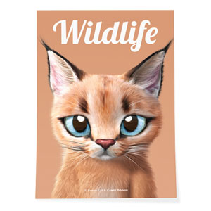 Cali the Caracal Magazine Art Poster