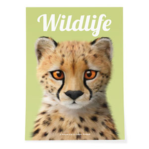 Samantha the Cheetah Magazine Art Poster
