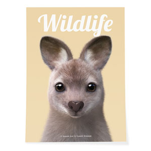 Wawa the Wallaby Magazine Art Poster