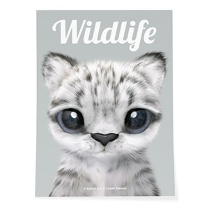 Yungki the Snow Leopard Magazine Art Poster