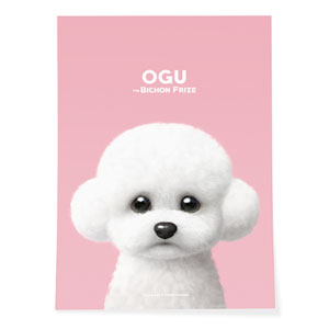 Ogu the Bichon Art Poster