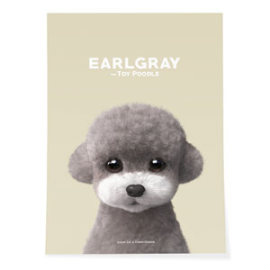 Earlgray the Poodle Art Poster