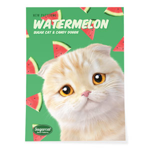 Achi's Watermelon New Patterns Art Poster