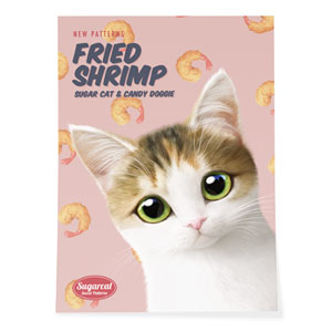 Dari's Fried Shrimp New Patterns Art Poster