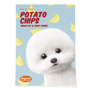 Dongle the Bichon's Potato Chips New Patterns Art Poster