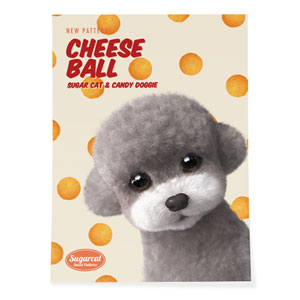 Earlgray the Poodle's Cheese Ball New Patterns Art Poster