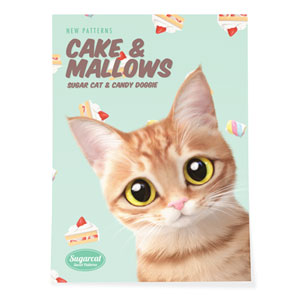 Ssol's Cake & Mallows New Patterns Art Poster