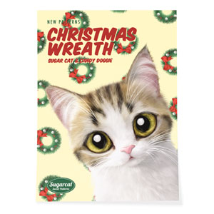 Yeona's Christmas Wreath New Patterns Art Poster