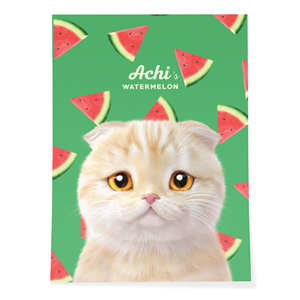 Achi's Watermelon Art Poster