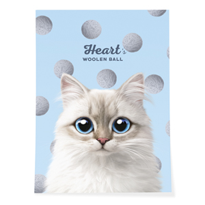 Heart's Woolen Ball Art Poster