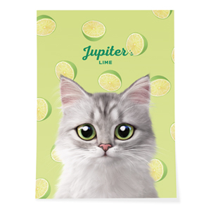 Jupiter's Lime Art Poster