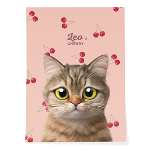 Leo the British Shorthair's Cherry Art Poster