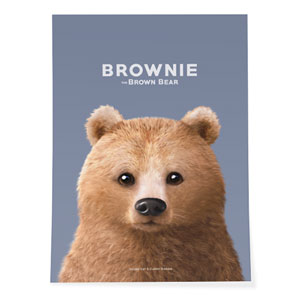 Brownie the Bear Art Poster