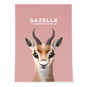 Gazelle the Thomson's Gazelle Art Poster