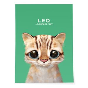 Leo the Leopard cat Art Poster