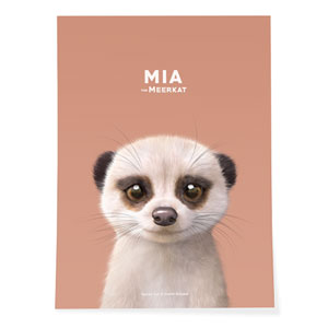 Mia the Meerkat Art Poster