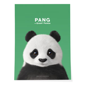 Pang the Giant Panda Art Poster