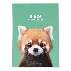 Radi the Lesser Panda Art Poster