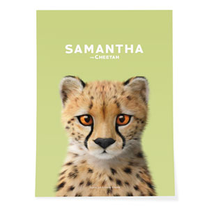Samantha the Cheetah Art Poster