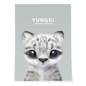 Yungki the Snow Leopard Art Poster
