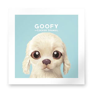 Goofy the Cocker Spaniel Art Print