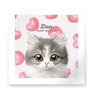 Dan the Kitten's Heart Balloon Art Print