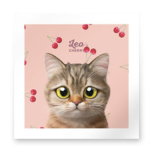 Leo the British Shorthair's Cherry Art Print