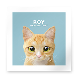 Roy the Cheese Tabby Art Print