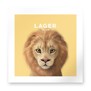 Lager the Lion Art Print